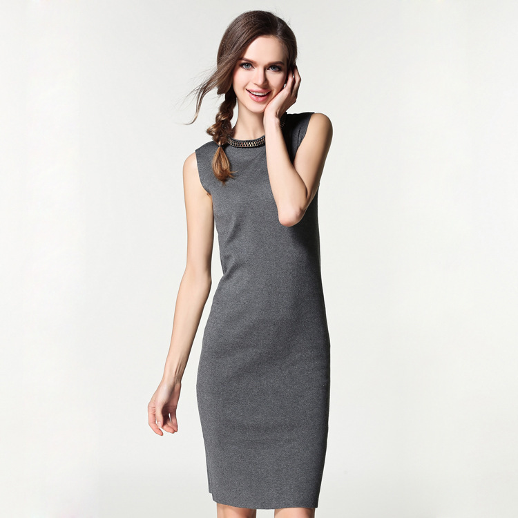 Long Sleeveless Knit Dress