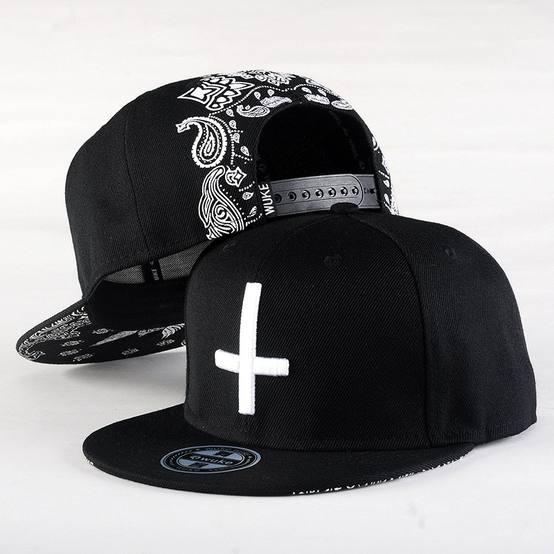 Hip Hop Hat With A Straight Visor Baseball Cap