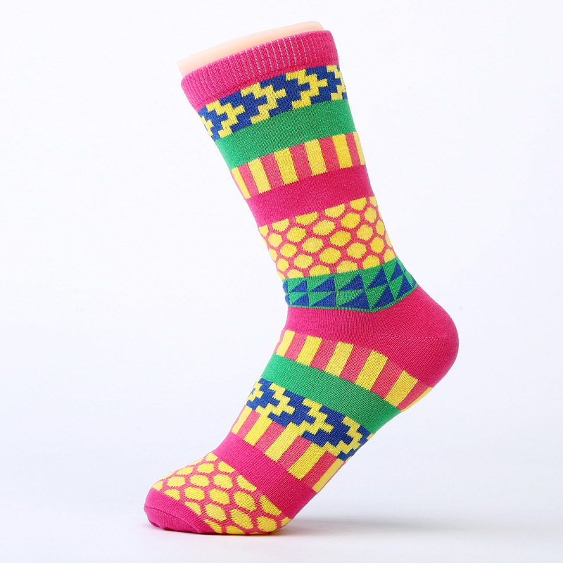 Women's Socks Color Socks Cotton Socks Ethnic Socks Tall Canister