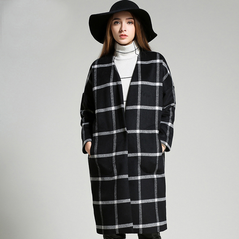 Women's Plaid Coat