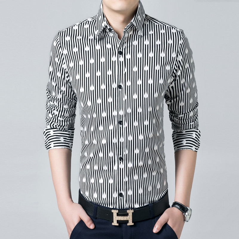 Slim fit striped shirt
