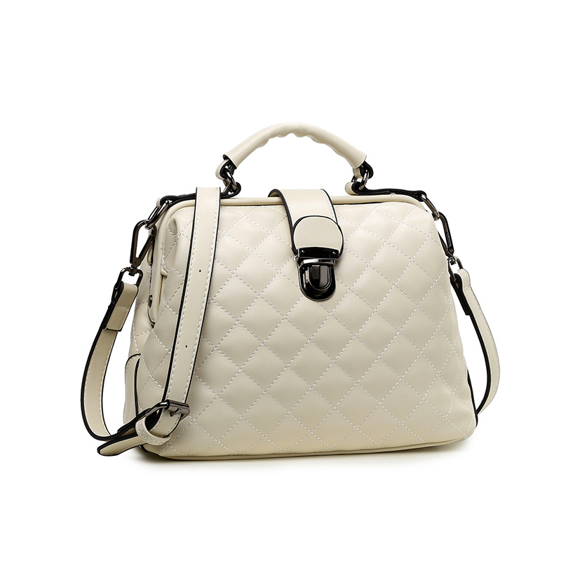 Quilted faux leather doctor bag